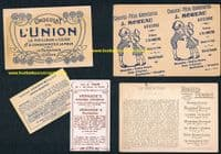 1890 -1930s swimming cards Union Pernot Verkade 5 different Dutch & French